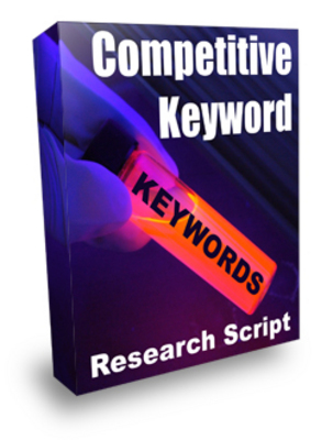 Product picture competitive keyword research with plr