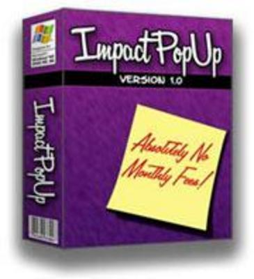 Product picture impact popup creator with master resale rights free bonus