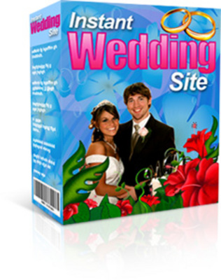 Product picture instant wedding site with master resale rights