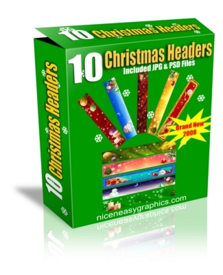 Product picture 10 christmas headers with MRR