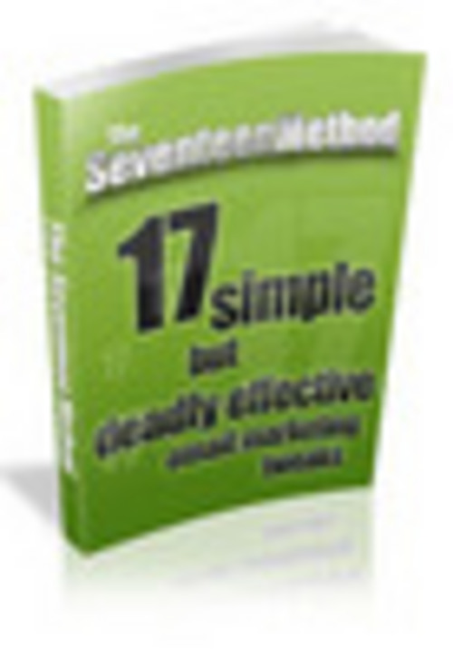 Product picture The 17 Method With Resale Rights.