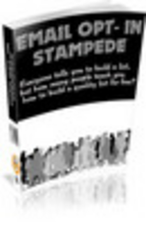 Product picture  Email Opt In Stampede With Private Label Rights.zip